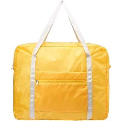 【AOTOBAG】洗える旅行用 2個セット 同色 学生用ポケッタブルボストンバッグ 折りたたみで大容量 40L 軽量 機内持ち込み可 (イエロー)