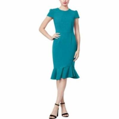 Betsey Johnson ベッツィージョンソン ファッション ドレス Betsey Johnson Womens Sheath Dress Blue Size 10 Flounce Scuba Crepe