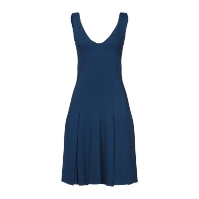 ツインセット シモーナ バルビエリ TWINSET ミニワンピース&ドレス ブルー 40 レーヨン 65% / ナイロン 30% / ポリウレタン