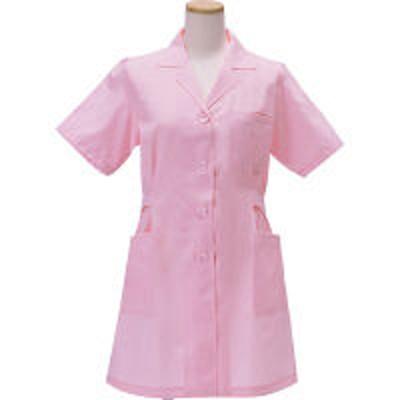KAZENKAZEN レディース診察衣(ハーフ丈) 医療白衣 薬局衣 半袖 ピンク シングル M 261HS-93(直送品)