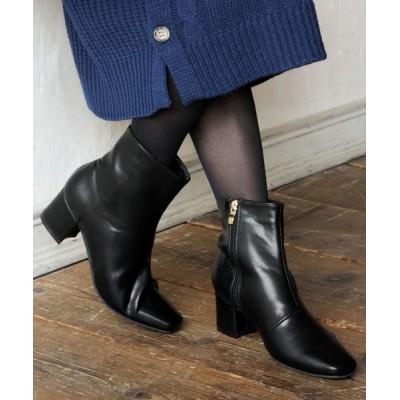 Ranan / スクエアトゥショートブーツ WOMEN シューズ > ブーツ