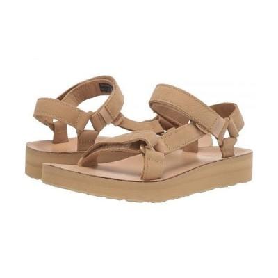 Teva テバ レディース 女性用 シューズ 靴 サンダル Midform Universal Leather - Desert Sand