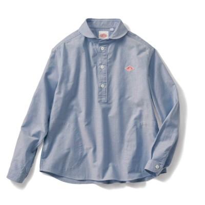 丸襟プルオーバーシャツ ブルー 36(M) 38(L)