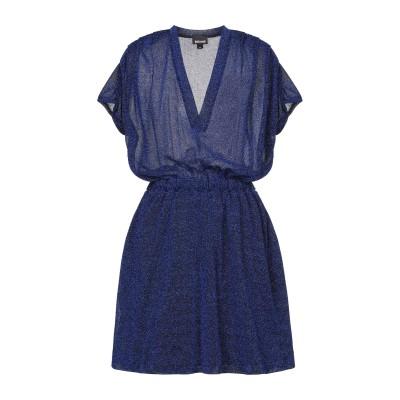 ジャストカヴァリ JUST CAVALLI ミニワンピース&ドレス ブルー 36 ナイロン 70% / 金属繊維 30% ミニワンピース&ドレス