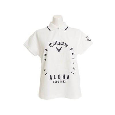 キャロウェイ(CALLAWAY) ゴルフウェア レディース トレイルモチーフプリントポロシャツ 241-8151805-030 半袖 (Lady's)