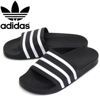 adidas (アディダス) 280647 ADILETTE オリジナルス アディレッタ コアブラックxホワイトxコアブラック AD069