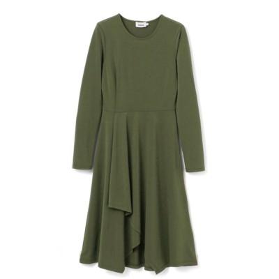 【LEOTA】クレープニットドレス