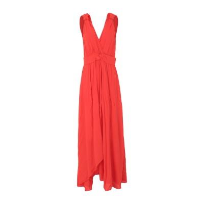 ピンコ PINKO ロングワンピース&ドレス コーラル 44 レーヨン 100% ロングワンピース&ドレス