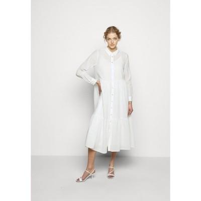 ブルンスバザー シャツ レディース トップス KATHIS GANA DRESS - Shirt dress - snow white
