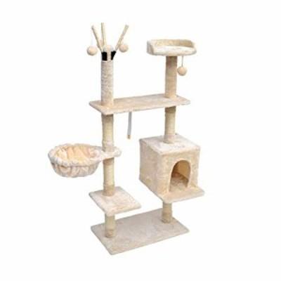 猫ツリー、猫タワー活動センター、マルチレイヤペット掻爬デバイス家具グラ(中古品)