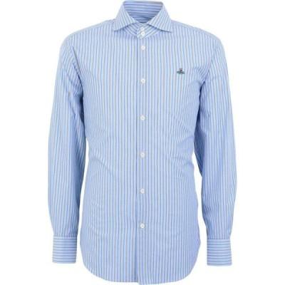 ヴィヴィアン ウエストウッド VIVIENNE WESTWOOD メンズ シャツ トップス Striped Shirt Sky blue