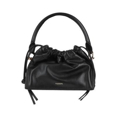 YUZEFI ハンドバッグ ブラック 革 ハンドバッグ