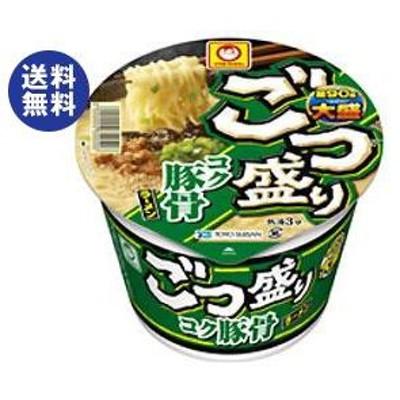 送料無料 東洋水産 マルちゃん ごつ盛り コク豚骨ラーメン 115g×12個入