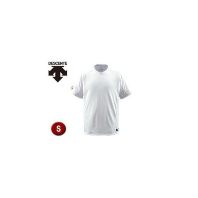 DESCENTE/デサント  DB202-SWHT ベースボールシャツ(Vネック) 【S】 (Sホワイト)