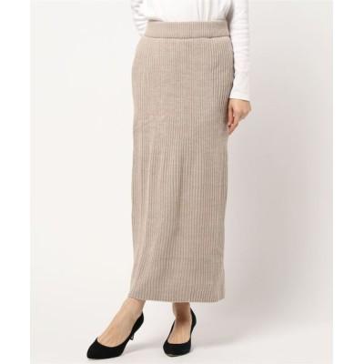 スカート リブ編み スカート