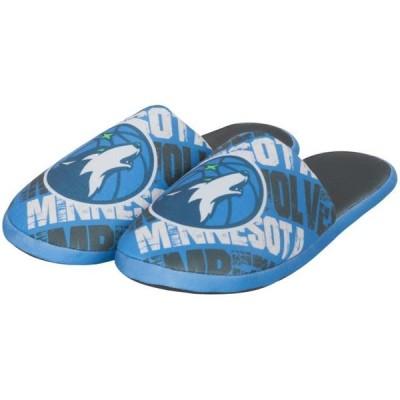ユニセックス スポーツリーグ バスケットボール Minnesota Timberwolves Digital Print Slippers - Blue アクセサリー
