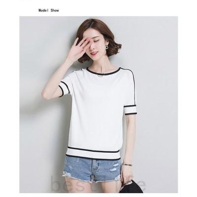 2020夏新作トップスレディースカットソー半袖薄手春夏アウターTシャツ通気性柔らかい夏UVカット冷房