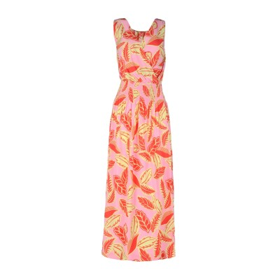 BOUTIQUE MOSCHINO ロングワンピース&ドレス ピンク 38 レーヨン 100% ロングワンピース&ドレス