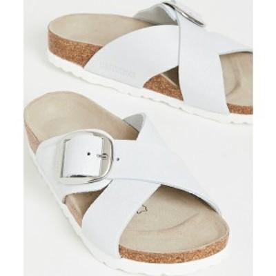 (取寄)ビルケンシュトック シエナ ビッグ バックル サンダル Birkenstock Siena Big Buckle Sandals WashedMetallicWhite