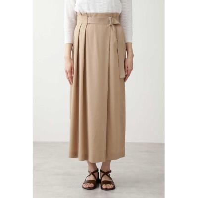 (HUMAN WOMAN/ヒューマンウーマン)◆ウォッシュサテンスカート≪Rue dieu a la HUMAN WOMAN≫/レディース ベージュ