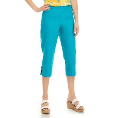 キム ロジャース レディース カジュアルパンツ ボトムス Women's Luxe Capri Criss Cross Hem Pants