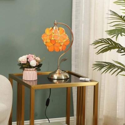 ステンドグラスランプ 桜 5色 インテリアライト 贈り物 テーブルランプ 雰囲気ランプ ベッドサイド 癒しグッズ ステンドグラス 枕元スタンド