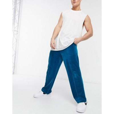 エイソス メンズ カジュアルパンツ ボトムス ASOS 4505 sweatpants in velour with wide leg