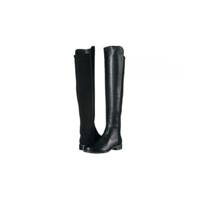 Stuart Weitzman スチュアートワイツマン レディース 女性用 シューズ 靴 ブーツ ロングブーツ The 5050 Boot - Black Nappa/Stretch Gabardine
