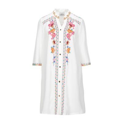 AMOË ミニワンピース&ドレス ホワイト 1 ポリエステル 100% ミニワンピース&ドレス