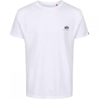 アルファ インダストリーズ Alpha Industries メンズ Tシャツ トップス Small Logo T-Shirt White