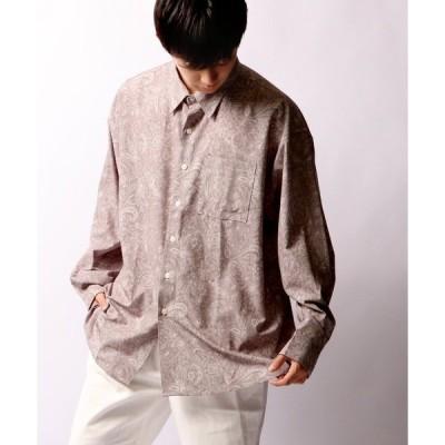 シャツ ブラウス 【SUGGESTION】ペイズリーオーバーシャツ