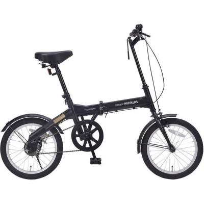 池商 折りたたみ自転車 16インチ ブラック M-100BK 1個(直送品)