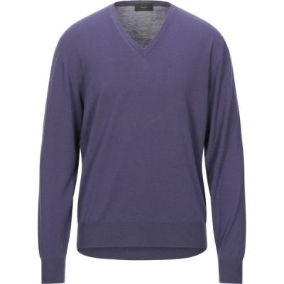 ザノーネ ZANONE メンズ ニット・セーター トップス sweater Purple