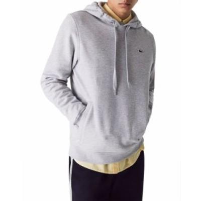 ラコステ メンズ パーカー・スウェット アウター Cotton Blend Regular Fit Hoodie Silver