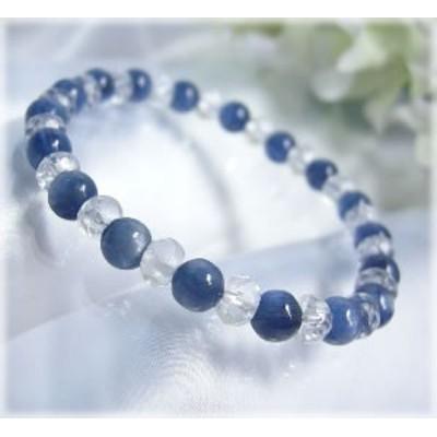 パワーストーン ブレスレット メンズ レディース 藍色の結晶 カヤナイト AAAブレスレット