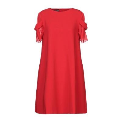BOUTIQUE MOSCHINO ミニワンピース&ドレス レッド 40 トリアセテート 70% / ポリエステル 30% ミニワンピース&ドレス