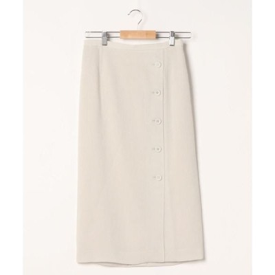 スカート 《B ability》トリアセ平織セットアップスカート【セットアップ対応商品】