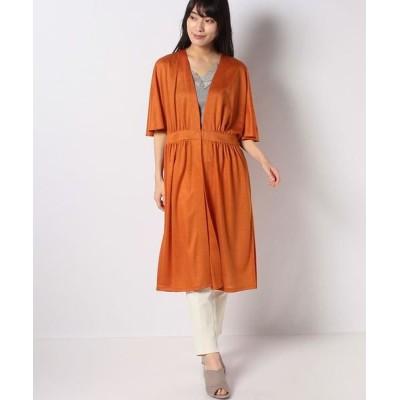 LAPINE BLANCHE/ラピーヌ ブランシュ 天竺ロング羽織りブラウス オレンジ 40