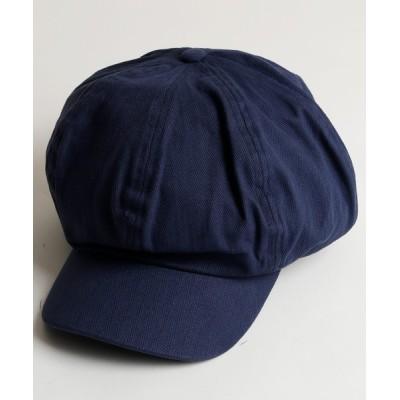 帽子 キャスケット ヘリンボーンキャスケット