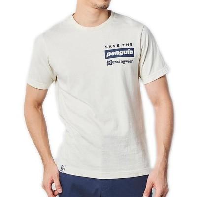 30%OFF  マンシングウェア メンズ 半袖 Tシャツ クルーネック 日本製 オーガニックコットン100% ナチュラルホワイト 白 2021年 春夏 MGMRJC50