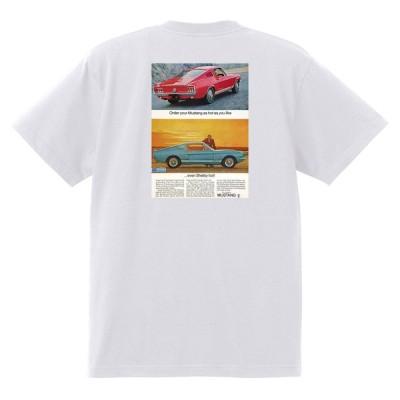 アドバタイジング フォード 754 白 Tシャツ 黒地へ変更可 1967 サンダーバード ギャラクシー ファルコン フェアレーン マスタング ランチェロ