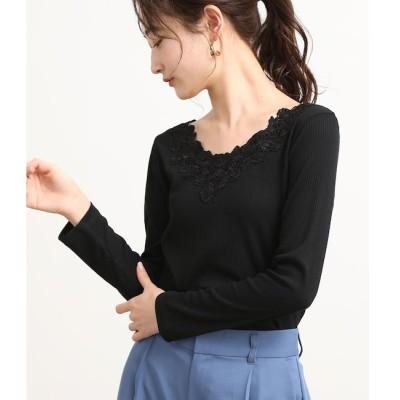 【ビス/ViS】 衿レーステレコプルオーバー