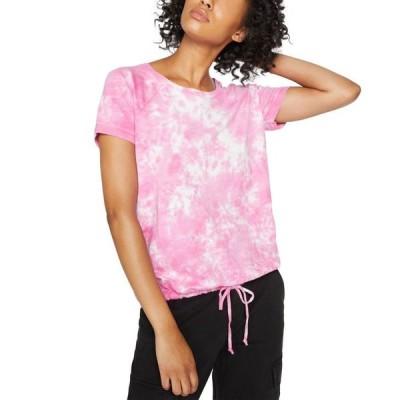 サンクチュアリー レディース Tシャツ トップス Lou Tie-Dyed Drawstring-Hem T-Shirt