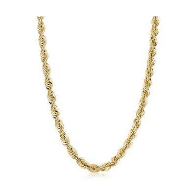 Solid 14k Yellow Gold Filled Rope Chain Necklace (6 mm, 22 inch)