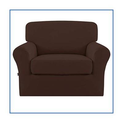 【新品】Easy-Going 2 Pieces Microfiber Stretch Couch Slipcover ? Spandex Soft Fitted Sofa Couch Cover, Washable Furniture Protector wi