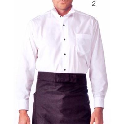 BS2561-2 ウイングカラーシャツ 長袖 男女兼用 全1色 (厨房 調理 白衣 サービスユニフォーム モンブラン MONTBLANC)