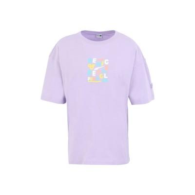 プーマ PUMA T シャツ ライラック XS コットン 100% T シャツ