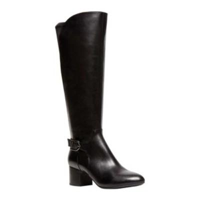 アンクライン レディース サンダル シューズ Honesty Knee High Boot Black Leather