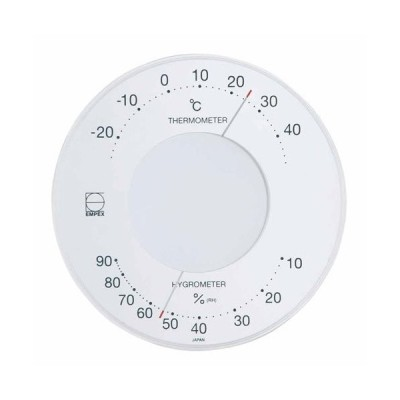 温度湿度計 温度計 湿度計 壁掛け 壁掛用 セレナ LV-4303 ホワイト エンペックス empex