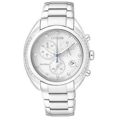 腕時計 シチズン Citizen エコドライブ レディース ダイヤモンド クロノグラフ Sapphire Japan 腕時計 FB1381-54A